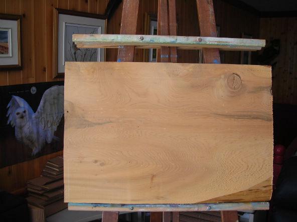 Le tableau en bois brut