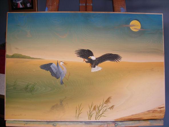 Après l'application de la peinture